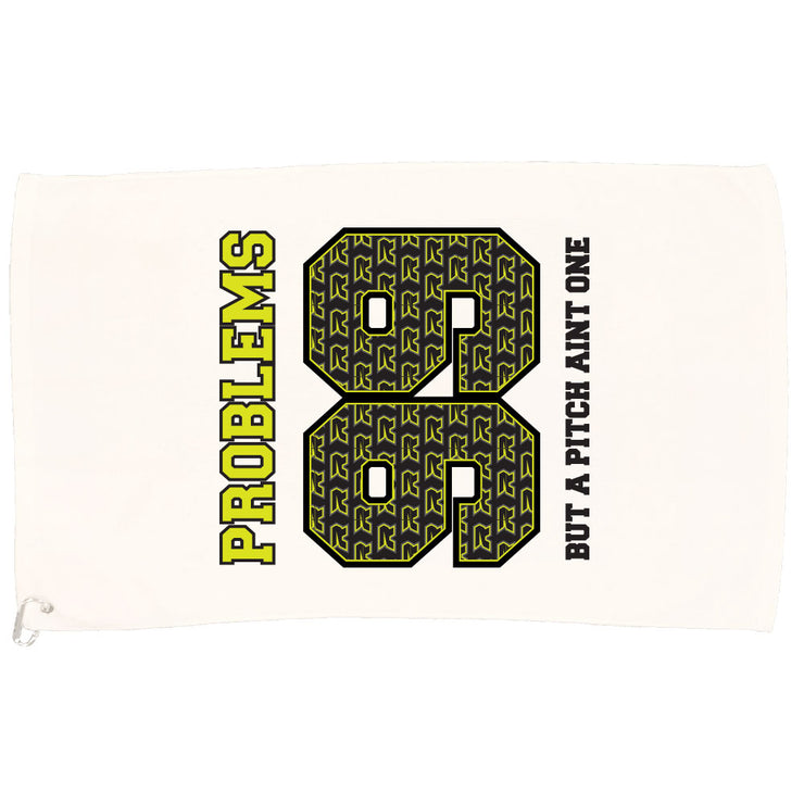 White Game Towel with 99 Problems Riot Logo