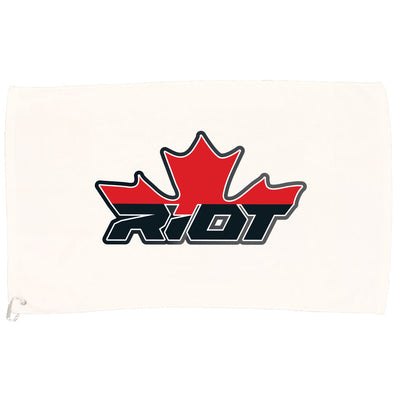 White Game Towel with Canada Riot Logo