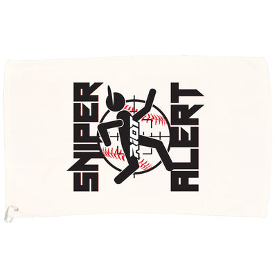 White Game Towel with Sniper Riot Logo