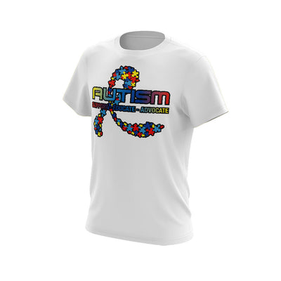 **BUY IN** Short Sleeve Shirt with 2020 (#2) Autism Riot Logo