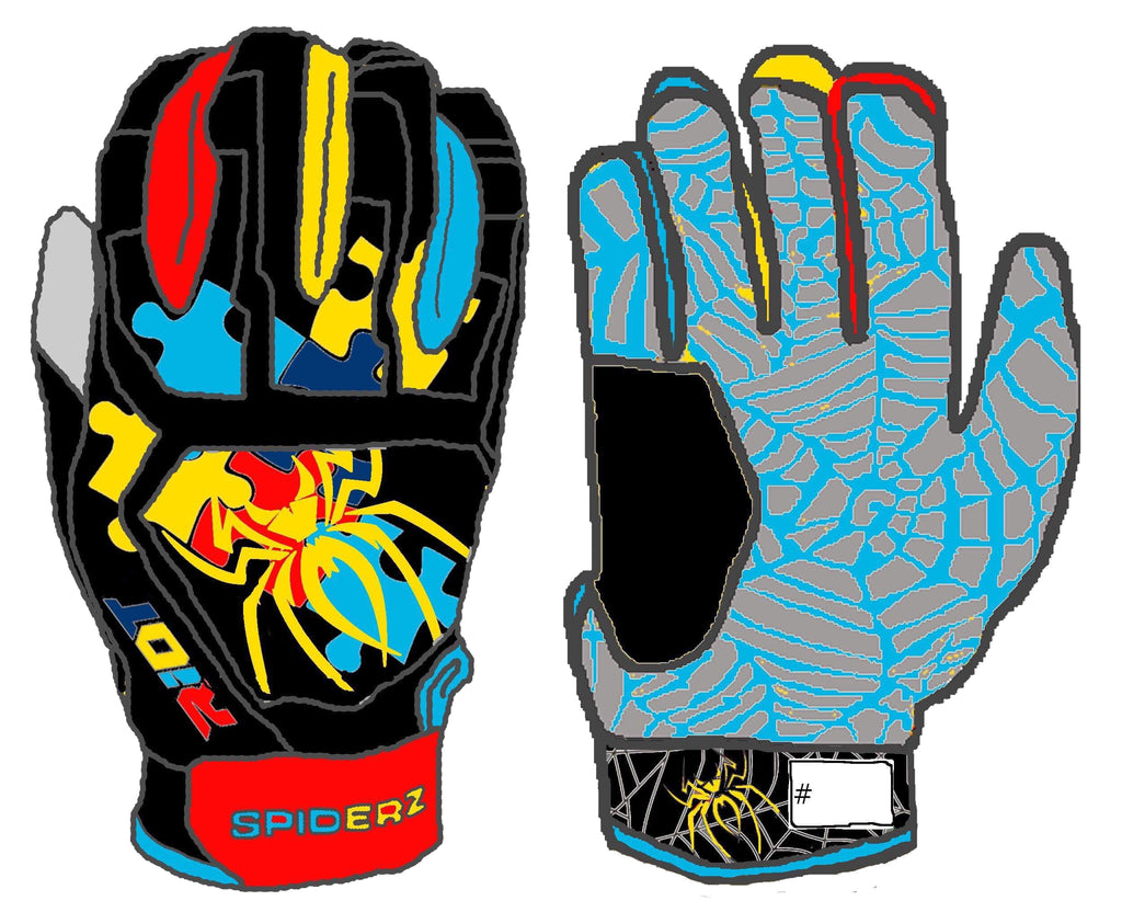 Spiderz Web Series Riot Autism Batting Gloves