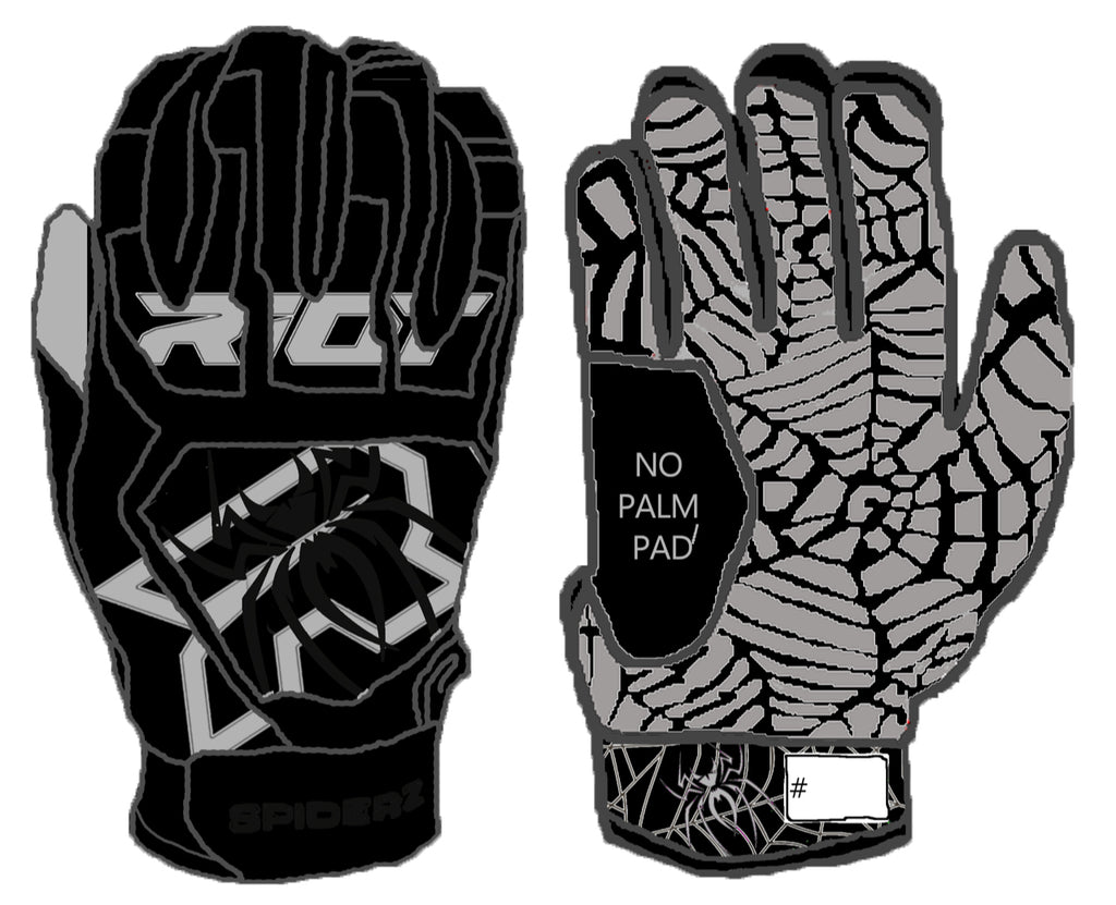 Spiderz Web Series Riot Blackout Batting Gloves (no palm pad)