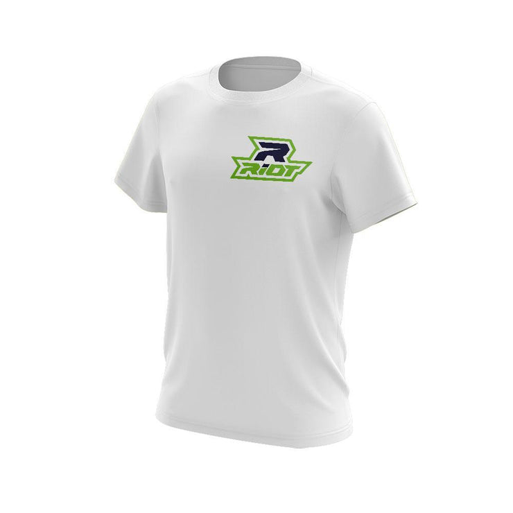 Lime Green/Navy Blue Riot Logo