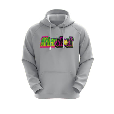 Heather Grey Hoodie with Aftershock 9U Logo