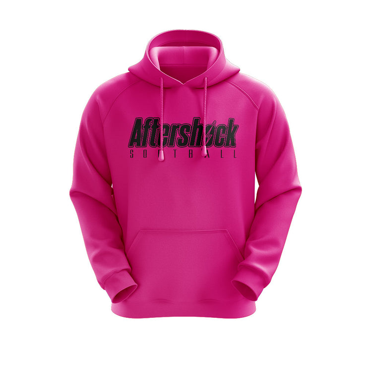 Neon Pink Hoodie with Aftershock 8U Black Logo