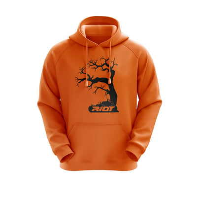 **NEW** Neon Orange Hoodie w/ Halloween Tree Riot Logo