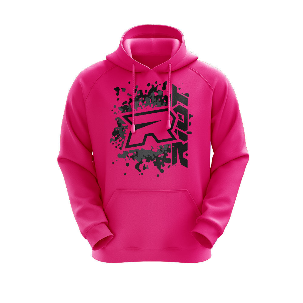 **NEW** Highlighter Series Neon Pink Hoodie w/Riot Logo