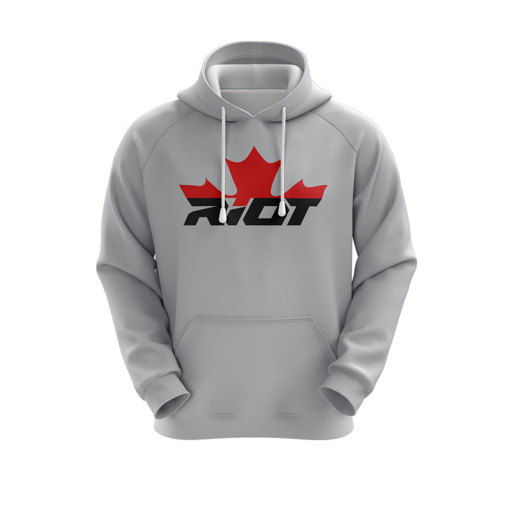 Heather Grey Hoodie w/ Canada Riot Logo