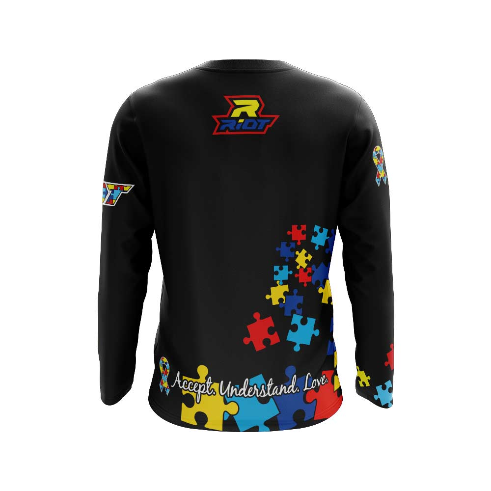 Autism Awareness Full Dye Long Sleeve Riot Jersey Preorder - Tentative ship date of Nov 11