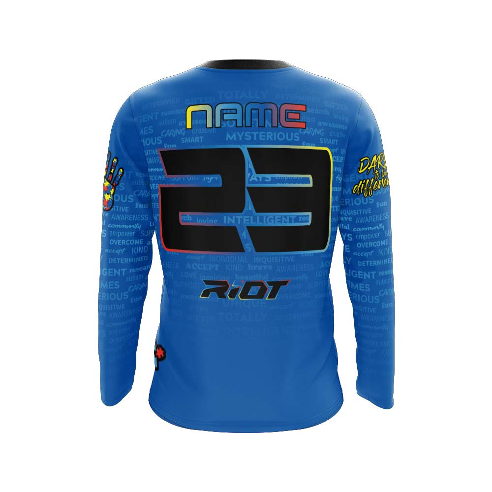 2020 (#2) Autism Full Dye Riot Long Sleeve Preorder - Customizable