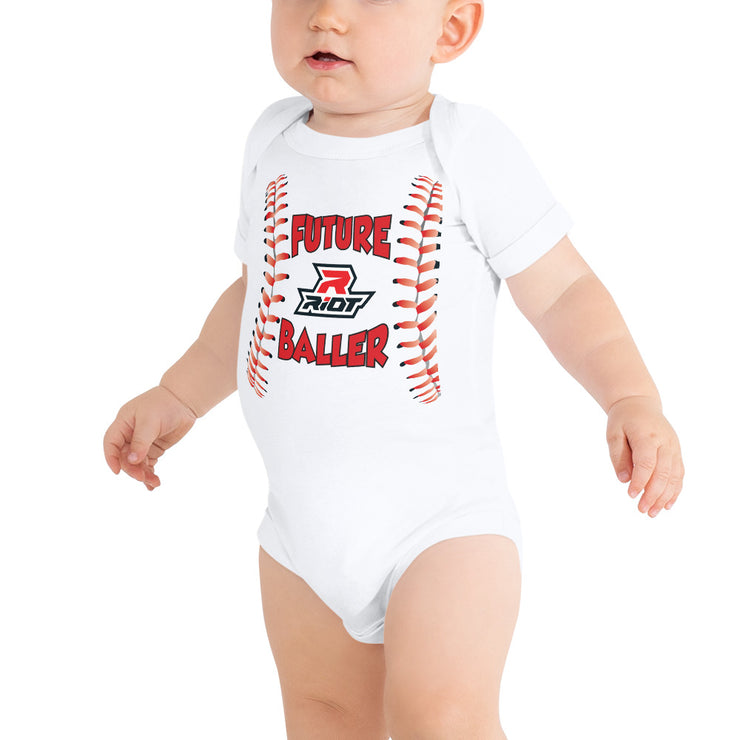 Baller Riot Baby Short Sleeve Onesie - Pick your shirt color