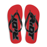 Red Sublimated Riot Flip Flops