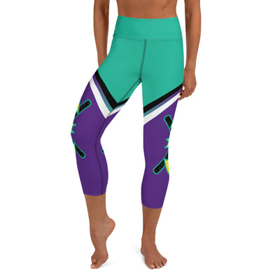 Battitude Full Dye Yoga Capri Leggings