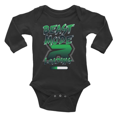 Beast Mode Loading Riot Baby Long Sleeve Onesie - Pick your shirt color