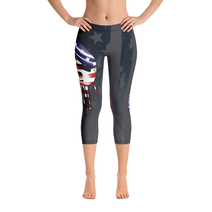 American Lips Full Dye Reg Waistband Capri Leggings