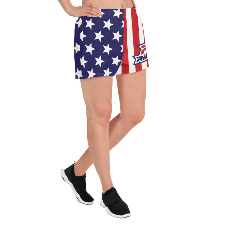 Riot Stars/Stripes Women's 4 Way Stretch Shorts