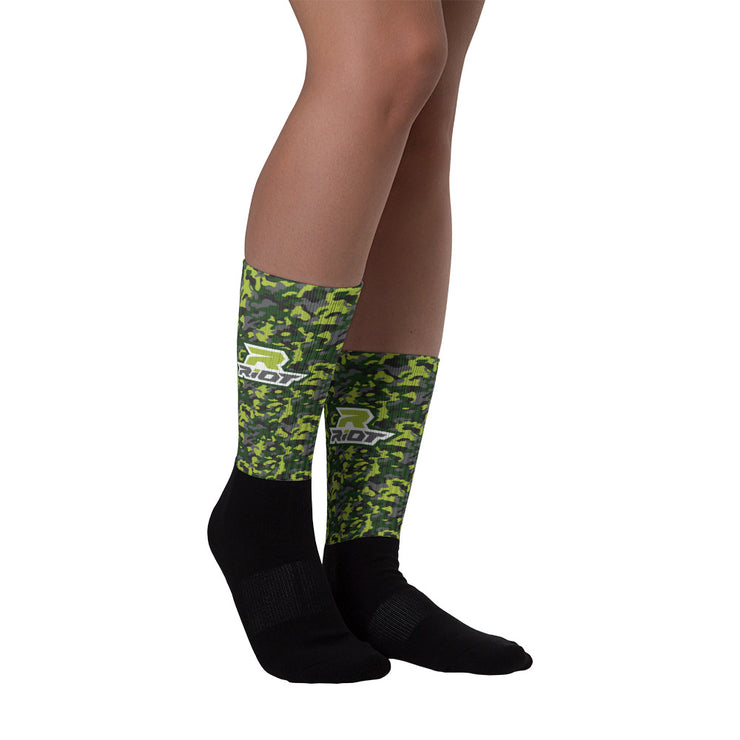 Green Camo Full Dye Riot Socks