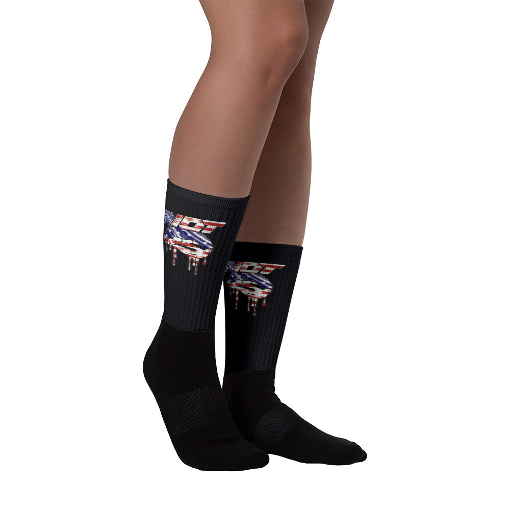 USA Lips Full Dye Riot Socks