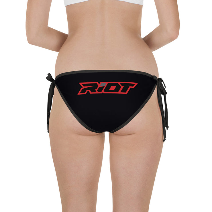Red/Black Full Dye Riot Reversible Bikini Bottom