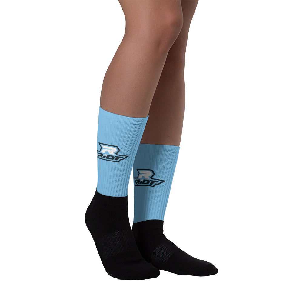 Columbia Blue Full Dye Riot Socks