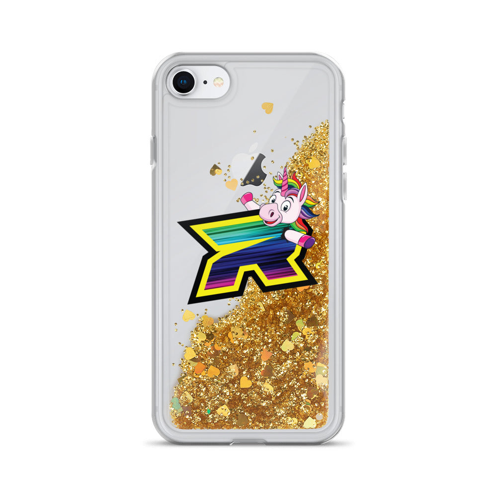 Unicorn Riot Logo Liquid Glitter Phone Case