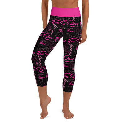 Valentines Day Sayings Riot Full Dye Yoga Capri Leggings