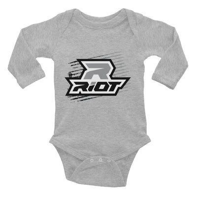 Black Grunge Riot Baby Long Sleeve Onesie - Pick your shirt color