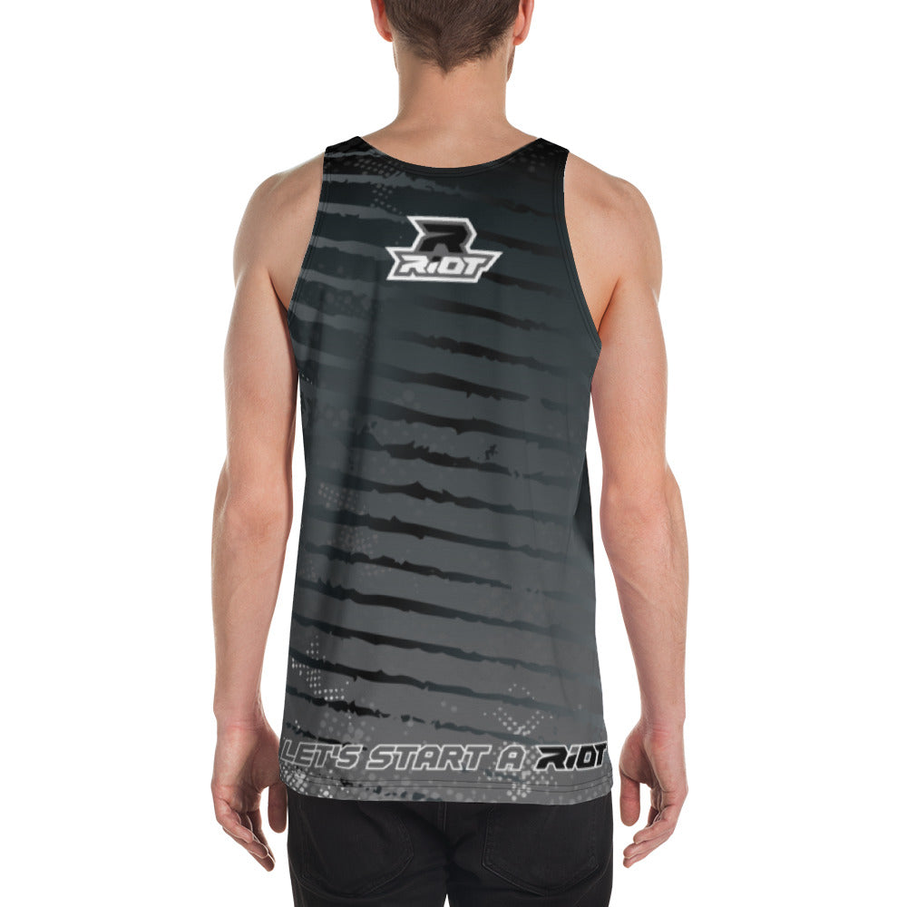Multi-Color Black Charcoal White Full Dye Riot Tank Top