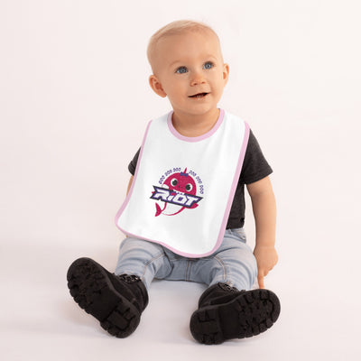 Baby Shark Girl Embroidered Riot Baby Bib