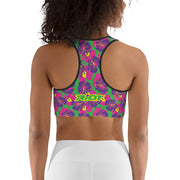 Tropical Flower Riot Sports bra