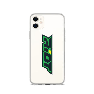 Green/Yellow Riot Logo iPhone Case