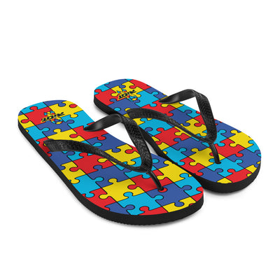 Autism Awareness Sublimated Riot Flip Flops
