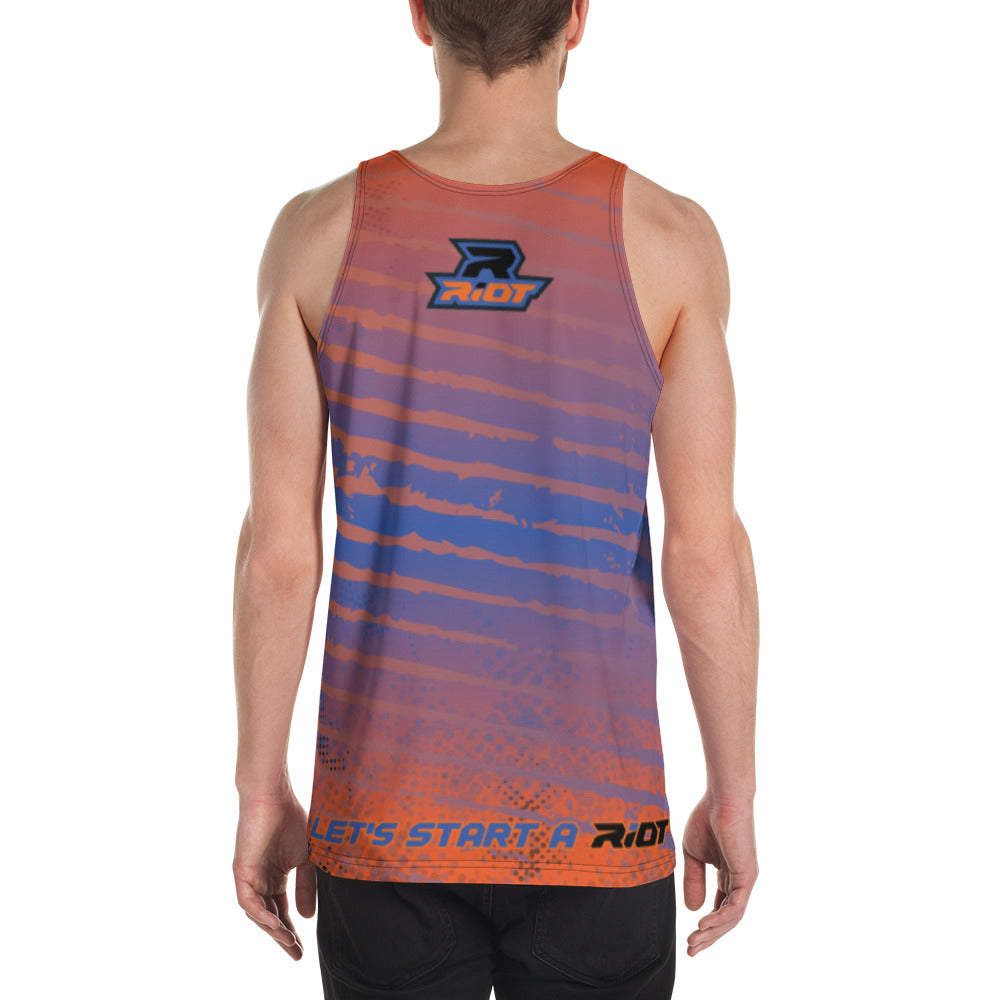 Multi-Color Black Blue Orange Full Dye Riot Tank Top