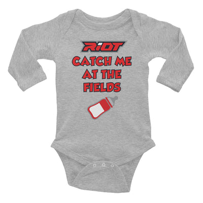 Catch Me Riot Baby Long Sleeve Onesie - Pick your shirt color