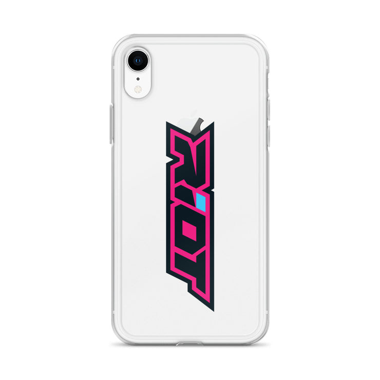 Pink/Blue Riot Logo iPhone Case