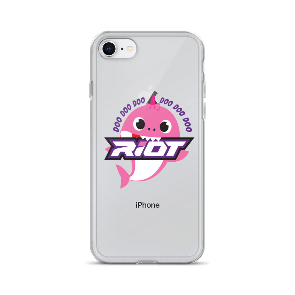 Pink Baby Shark Riot Logo iPhone Case