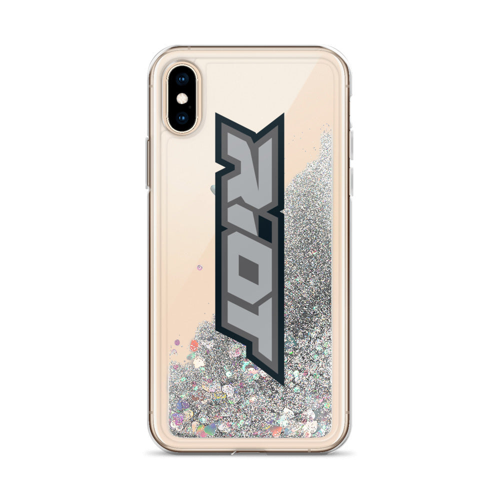 Grey Riot Logo Liquid Glitter Phone Case