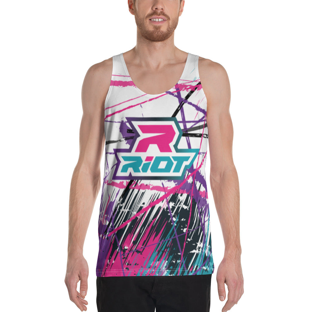 Pink/Purple/Teal Grunge Full Dye Riot Tank Top