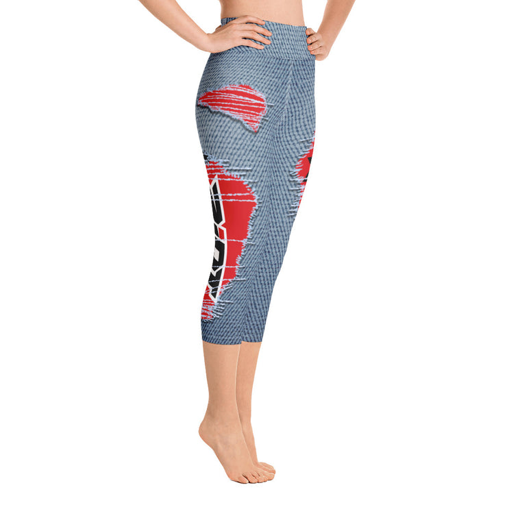 Jean Riot Full Dye Yoga Capri Leggings
