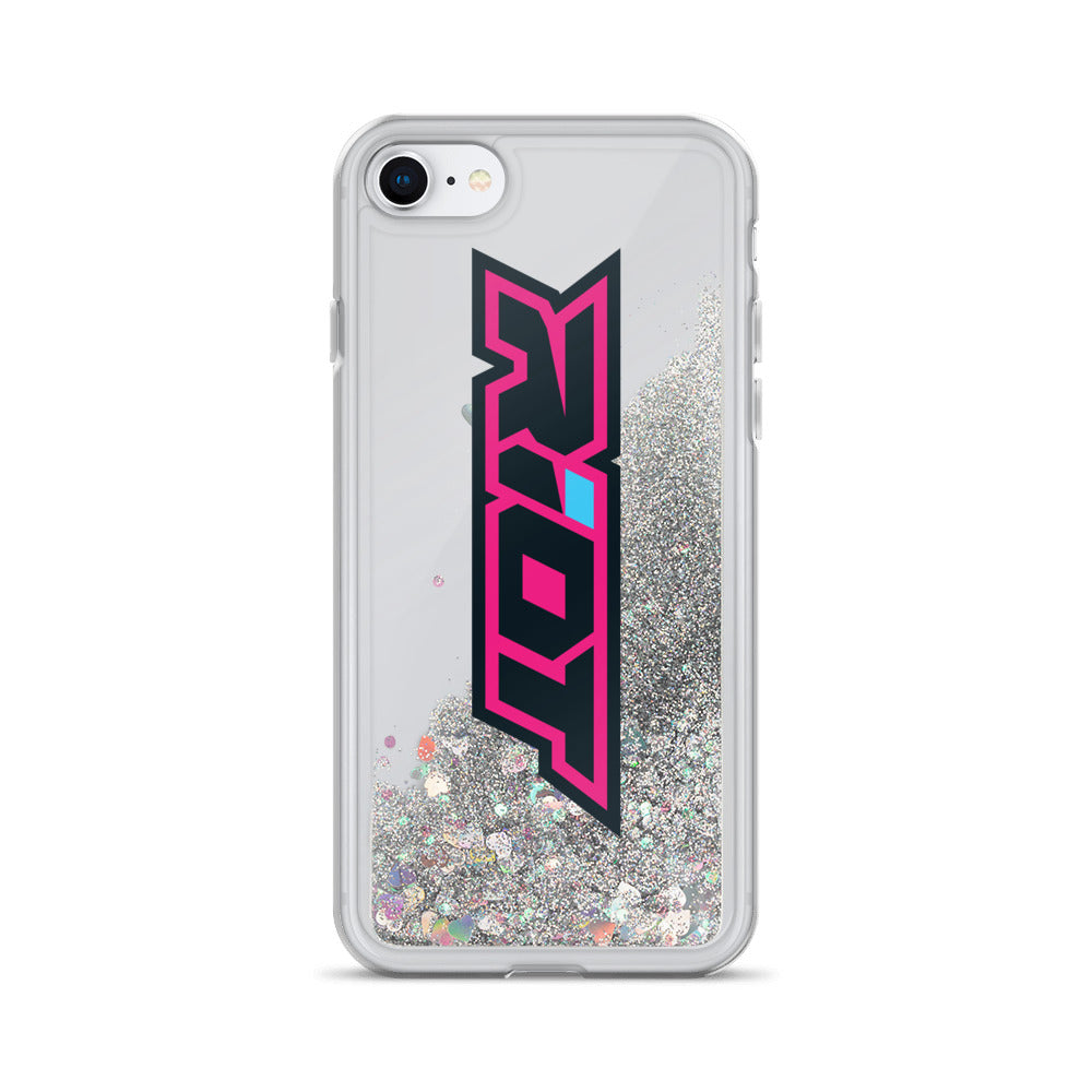 Pink/Blue Riot Logo Liquid Glitter Phone Case