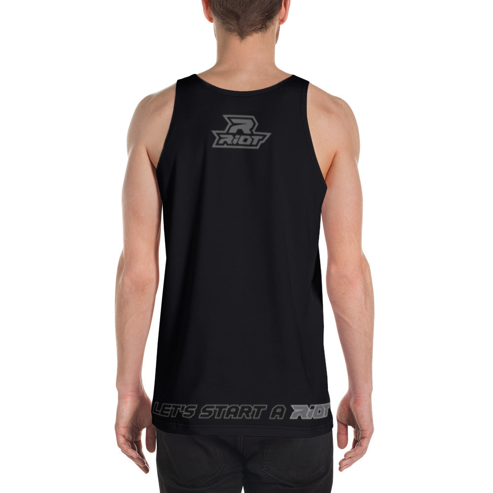 Black/Charcoal Full Dye Riot Tank Top
