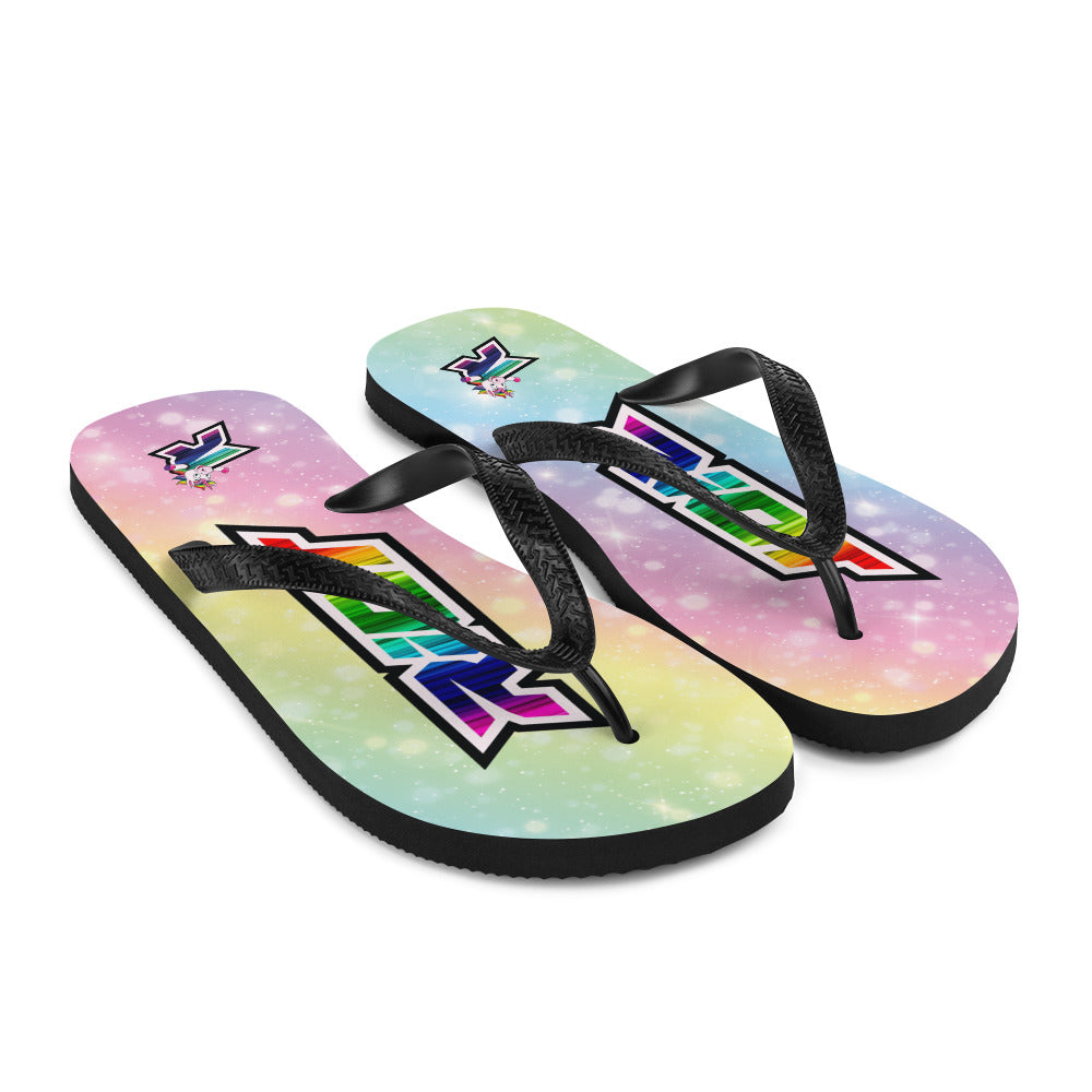Unicorn Sublimated Riot Flip Flops
