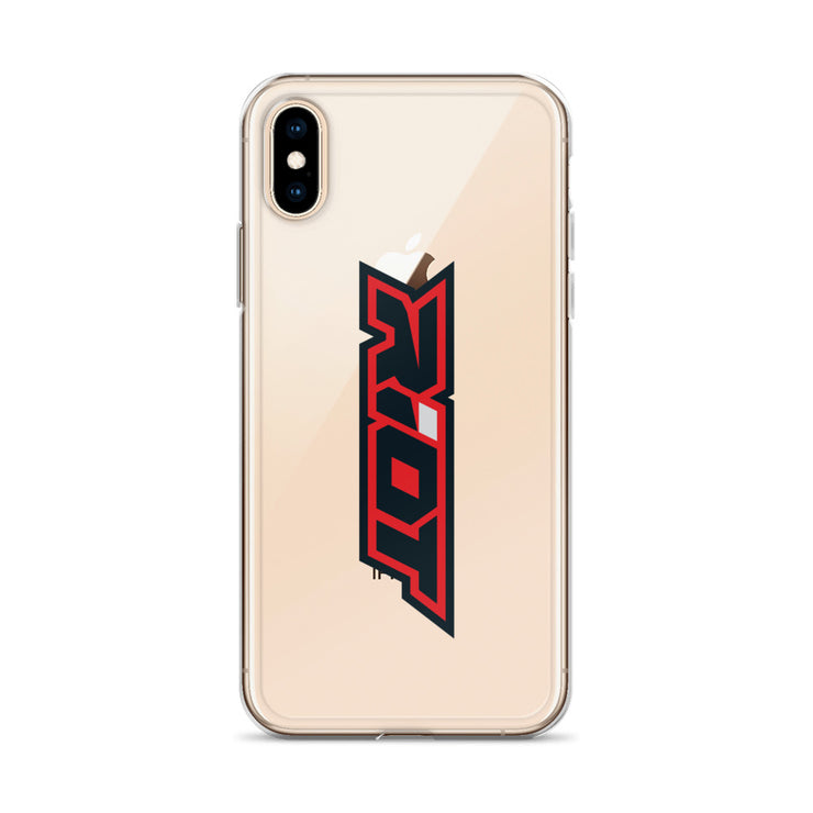 Red/Black Riot Logo iPhone Case