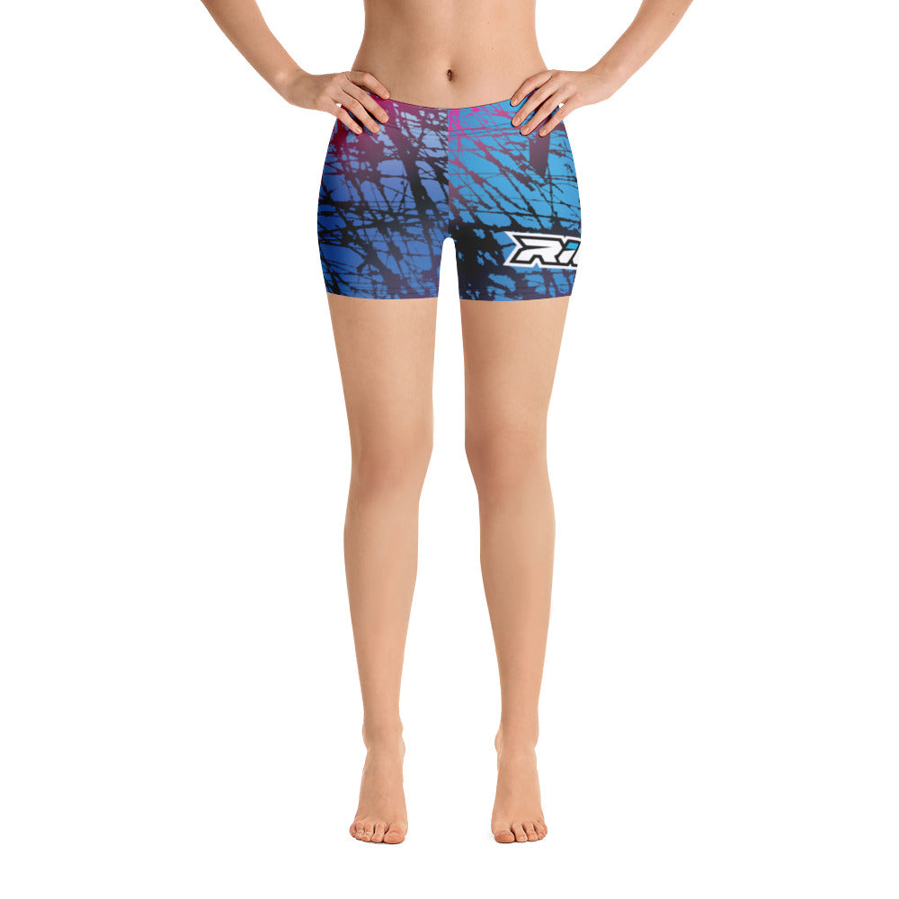 Pink/Blue Chaos Full Dye Reg Waistband Shorts