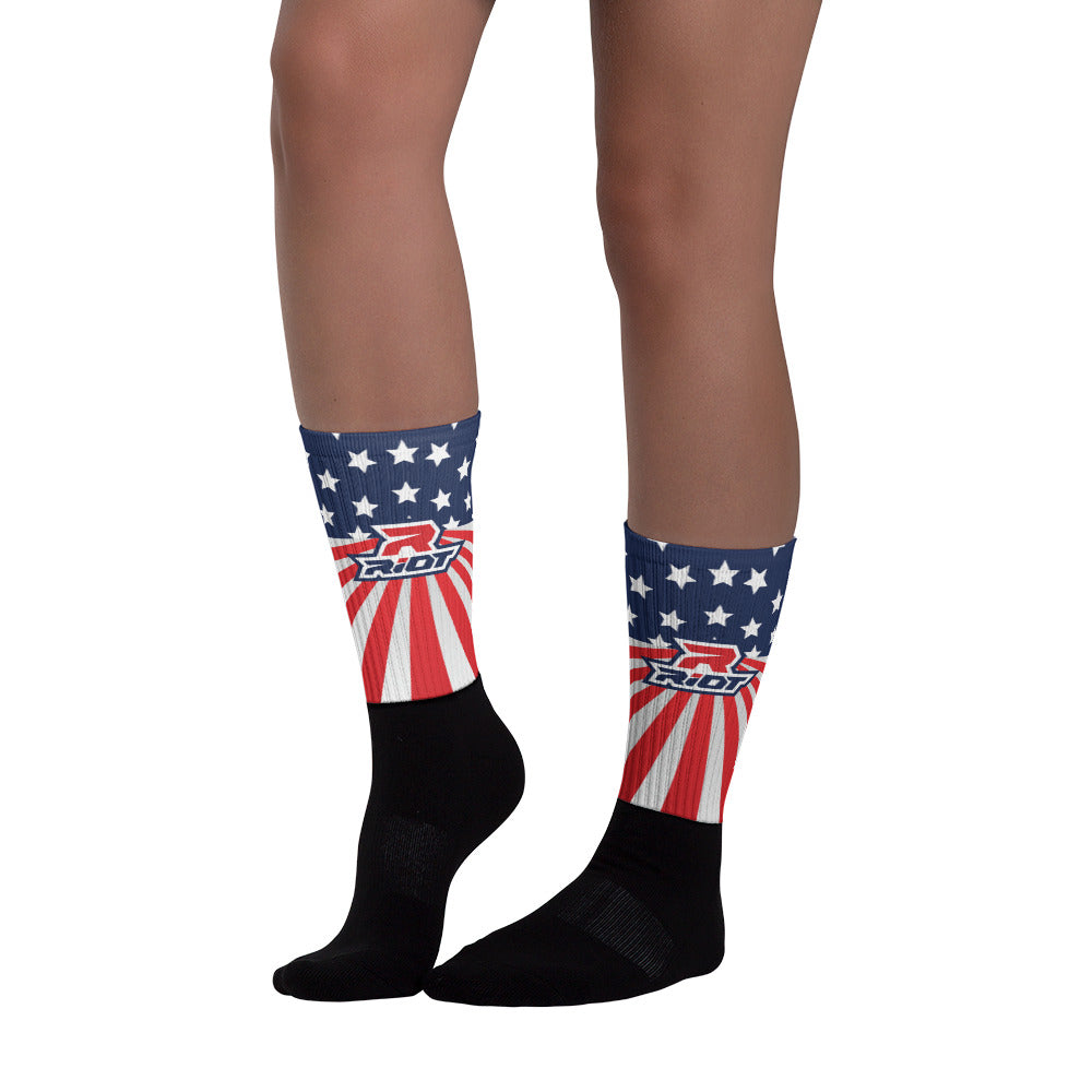 USA Stars/Stripes Full Dye Riot Socks