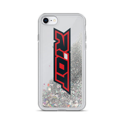 Red/Black Riot Logo Liquid Glitter Phone Case