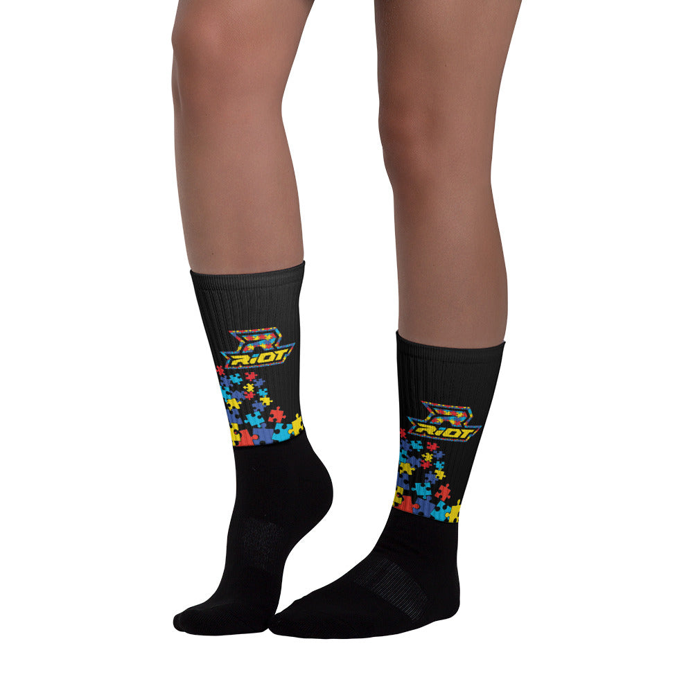 Autism Full Dye Riot Socks
