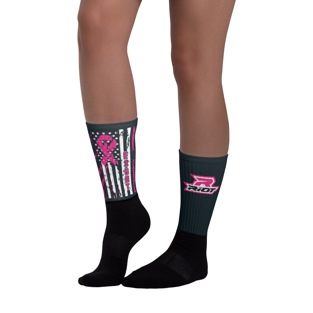 Breast Cancer Awareness Flag Riot Socks