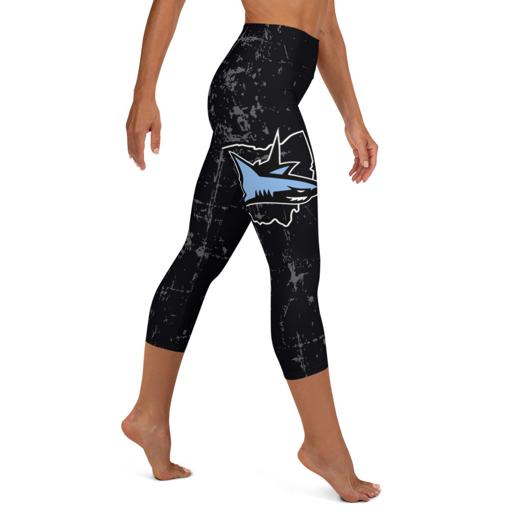 Sharks Full Dye Yoga Capri Leggings