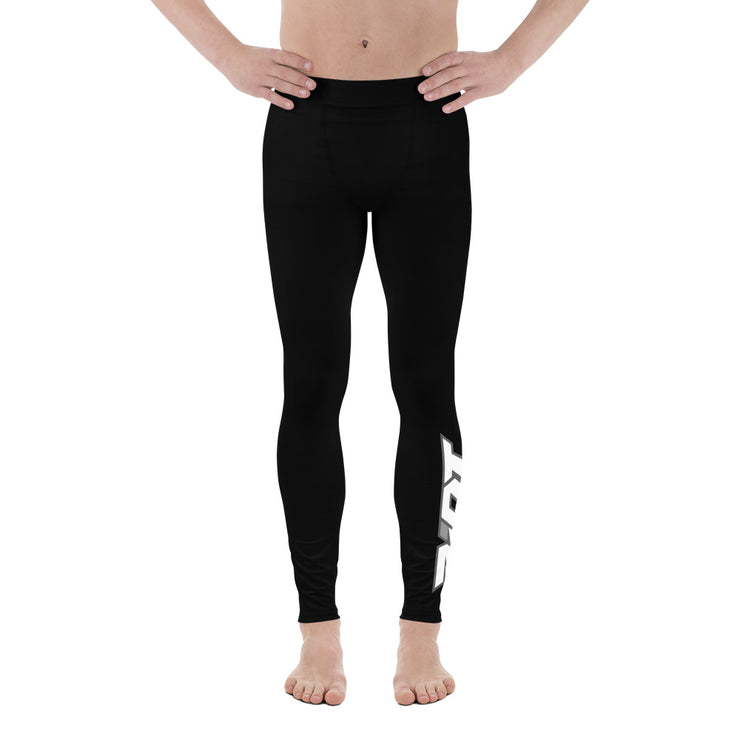 Black Full Dye Riot Men's Leggings